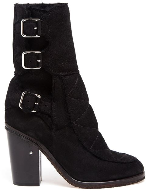 Shearling Lined Ankle Boots