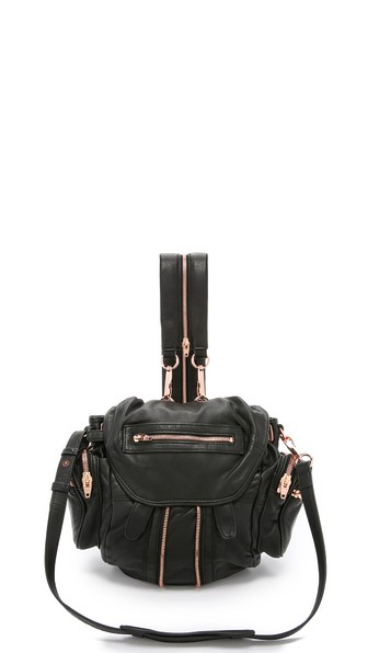 MINI MARTI BACKPACK WITH ROSE GOLD HARDWARE