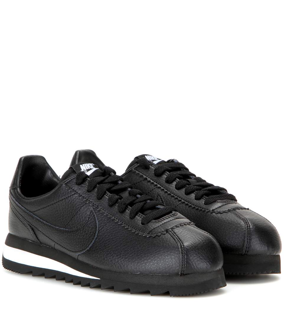 CLASSIC CORTEZ EMBOSSED LEATHER SNEAKERS