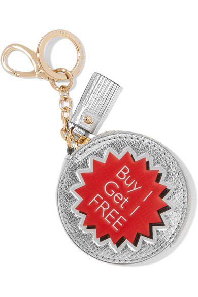 Buy 1 Get 1 Free Metallic Textured-Leather Keychain