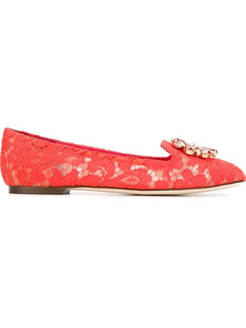 VALLY EMBELLISHED LACE BALLERINAS