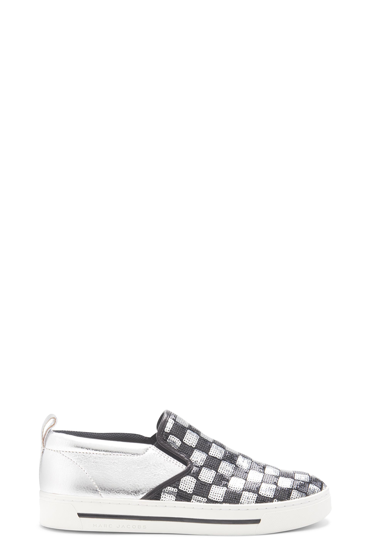 Silver & Black Sequin Mercer Skate Sneaker