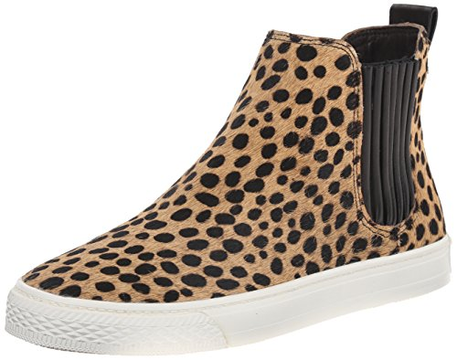 LOEFFLER RANDALL CROSBY PULL ON HIGH TOP FASHION SNEAKERS, CHEETAH