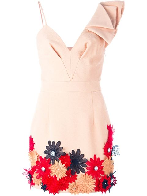 flower appliqué dress