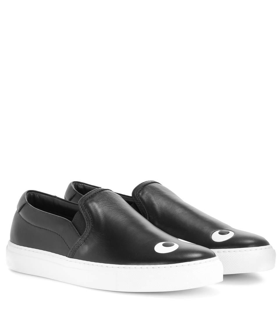 Skater Eyes Right Sneaker In Black Nappa