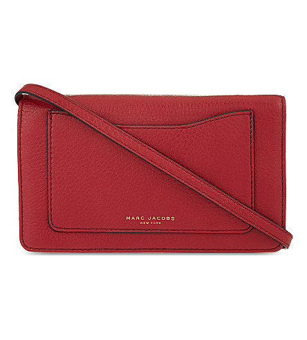 Recruit Leather Continental Zip Wallet, Ruby Rose