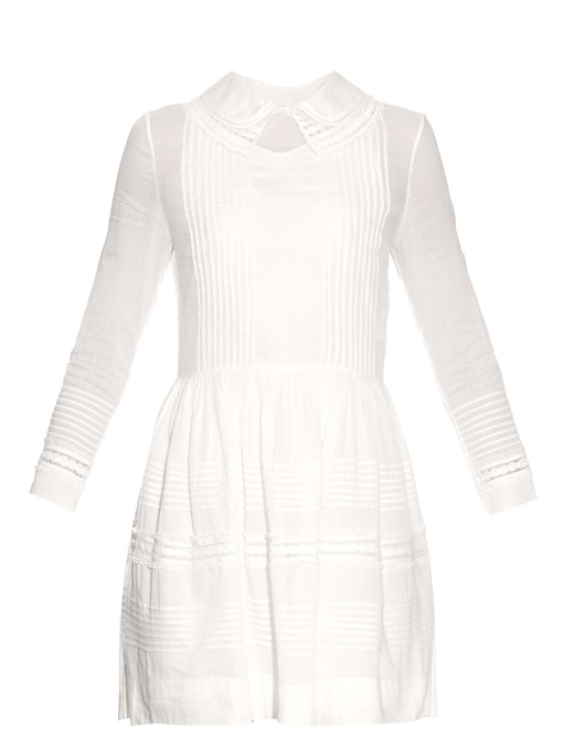 DOUBLE-COLLAR COTTON DRESS