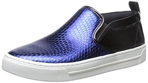 Marc By Marc Jacobs Women'S Broome Embossed Metallic Cobra Skate Fashion Sneaker