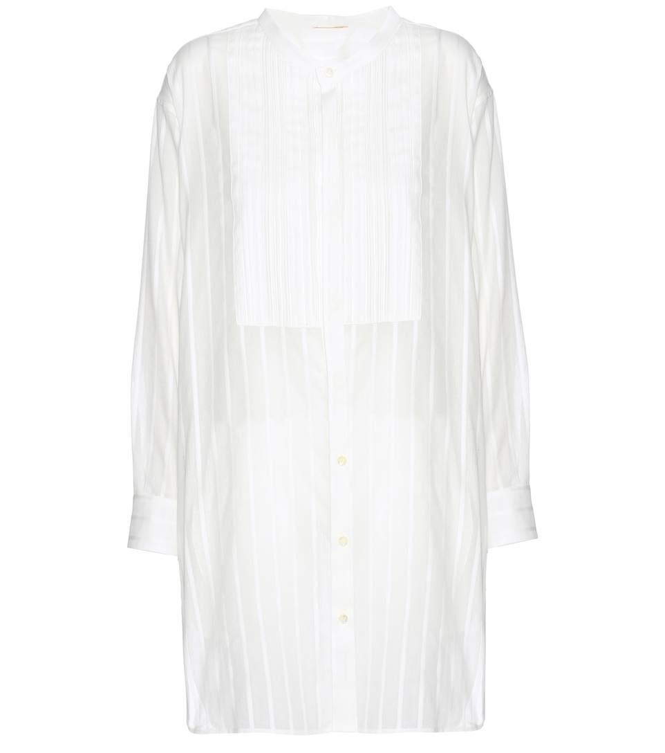 STRIPED COTTON TUNIC DRESS