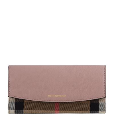 PORTER HOUSE CHECK CONTINENTAL WALLET, PALE ORCHID