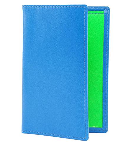 Super Flourescent Leather Card Holder