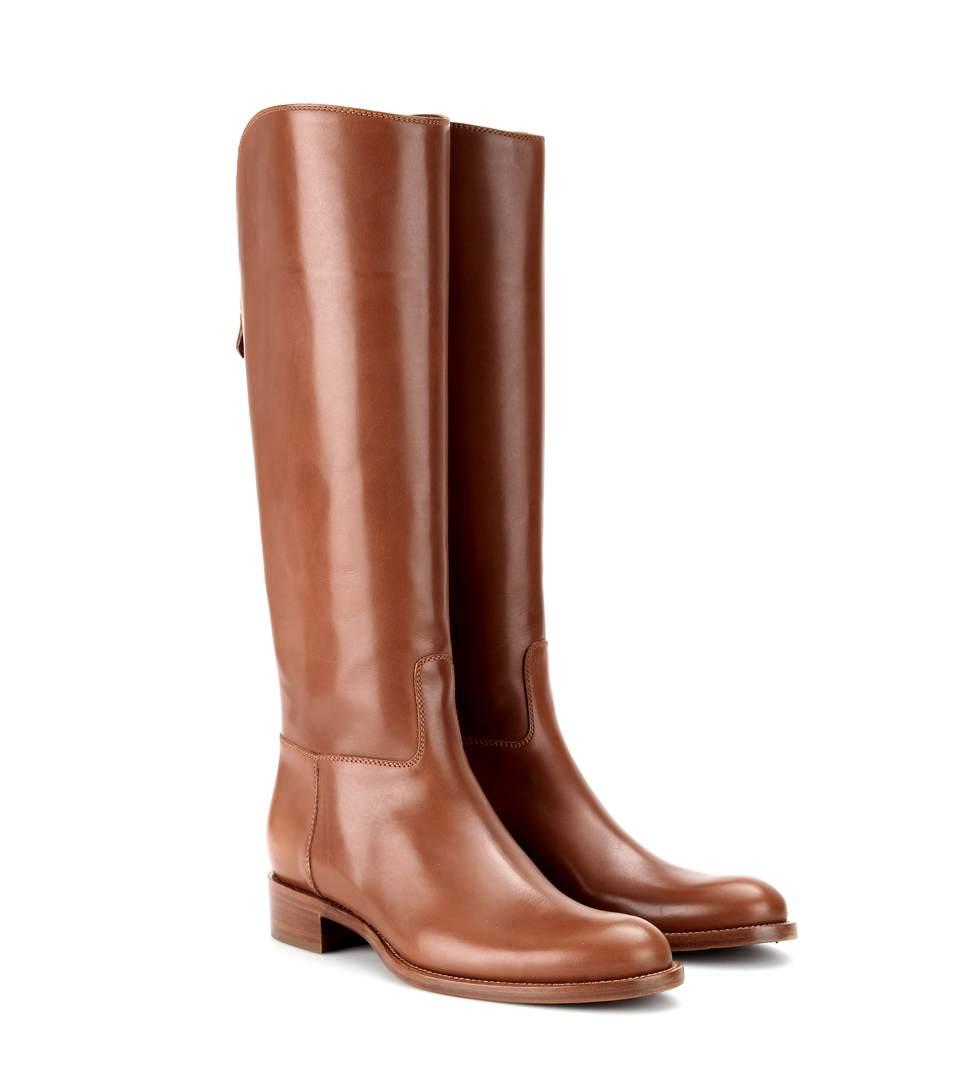 Wellington leather boots