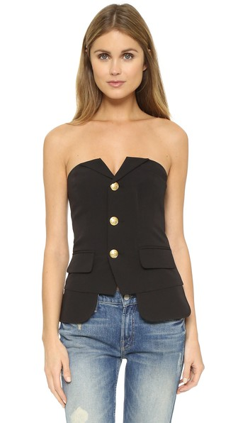 BUTTON UP BUSTIER