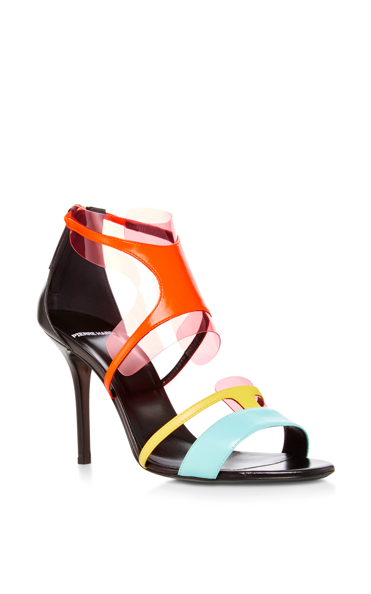 MULTI POOL SHADES LEATHER AND PVC SANDAL