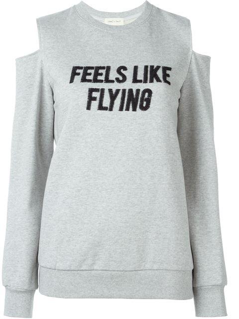STEVE J & YONI P cut-out shoulder sweatshirt