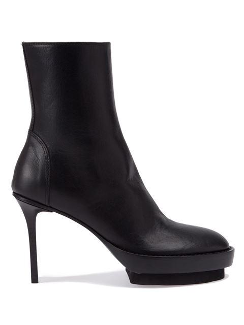 platform boots with stiletto heel