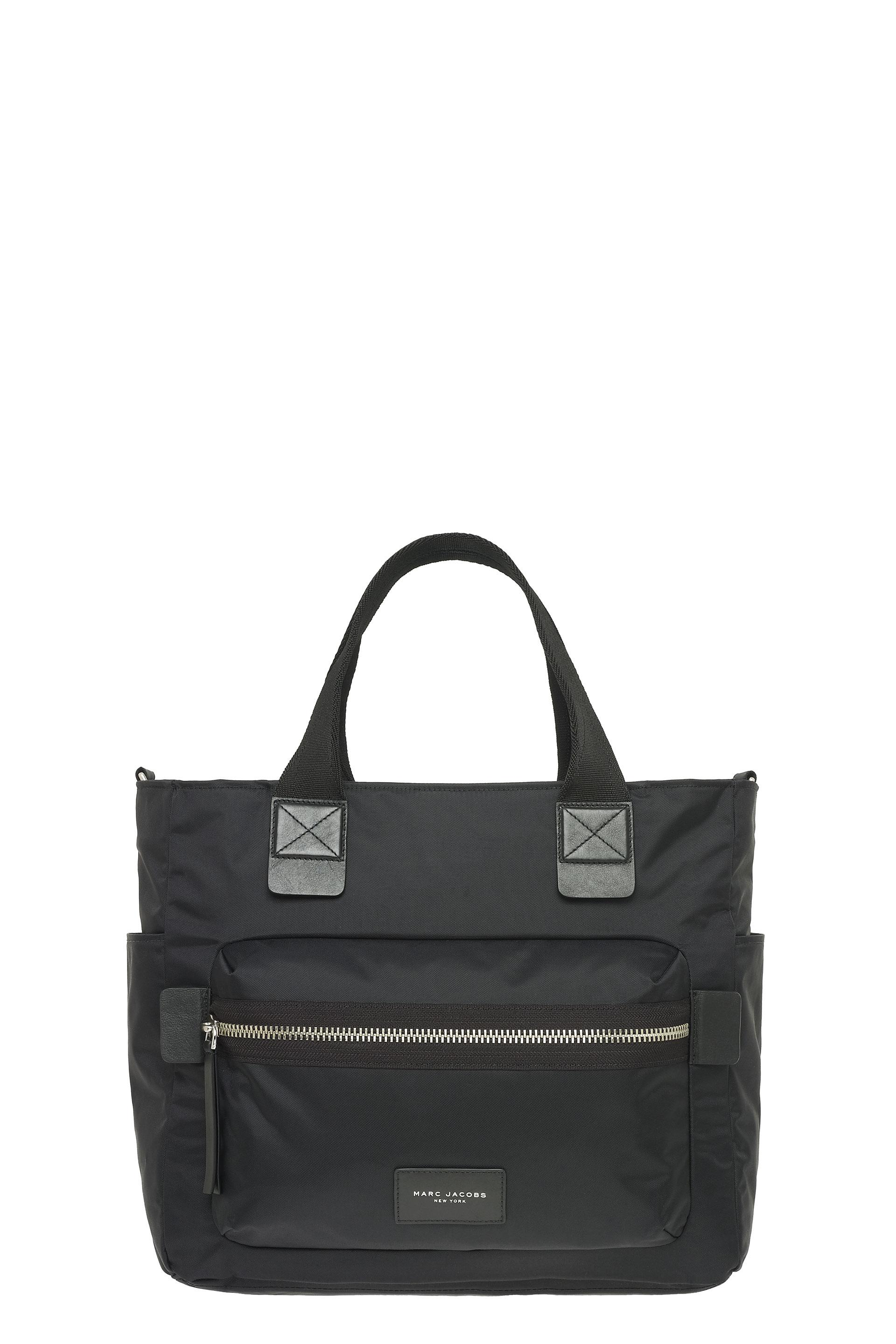 'BIKER' NYLON BABY BAG - BLACK