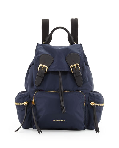 The Medium Rucksack in Technical Nylon and Leather