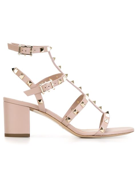 GARAVANI ROCKSTUD LEATHER SANDALS