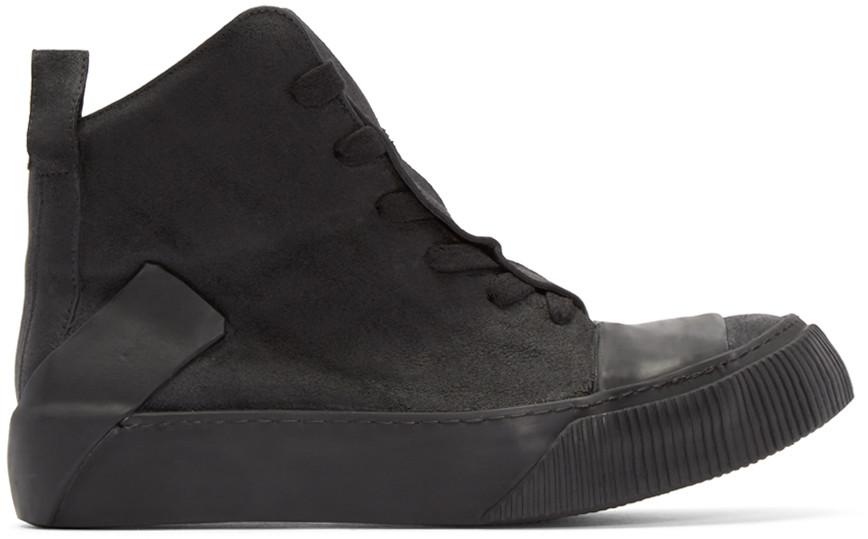 BORIS BIDJAN SABERI Black Leather Bamba 1 High-Top Sneakers