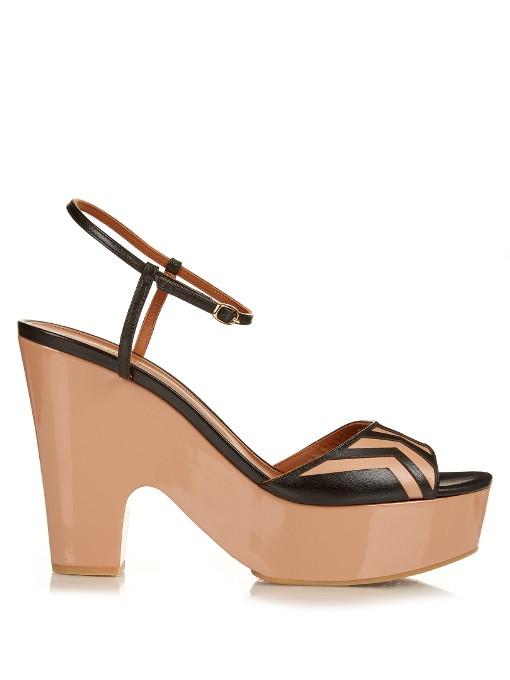 Gilda leather clogs