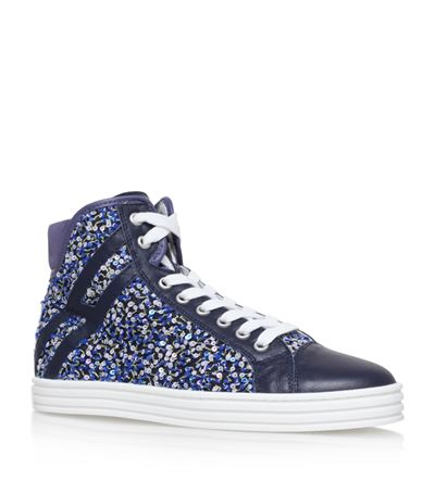 Hogan Rebel  Floral High-Top Sneaker