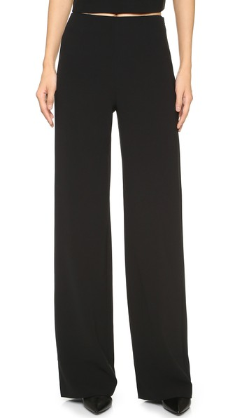 Cotton-Blend Jersey Wide-Leg Trousers