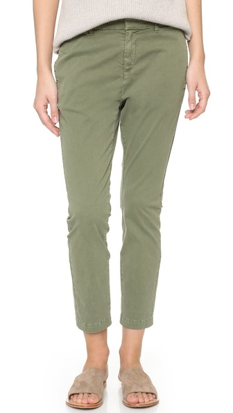 East Hampton mid-rise cotton-blend chino trousers
