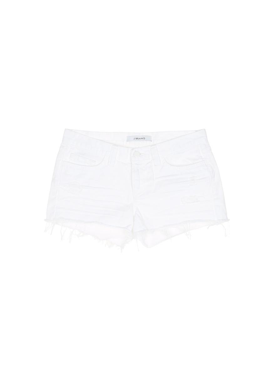 'Cut Off' Low Rise Denim Shorts