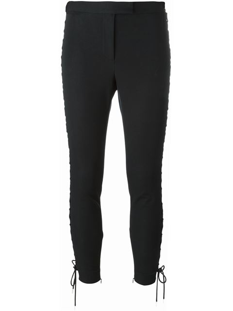lace-up cropped trousers