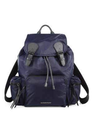The Extra Large Rucksack in Technical Nylon and Leather