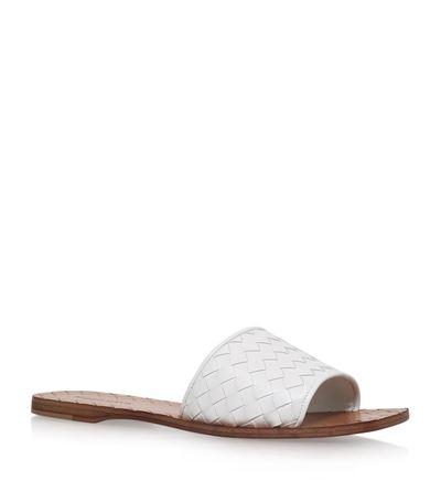 white ravello leather sandels