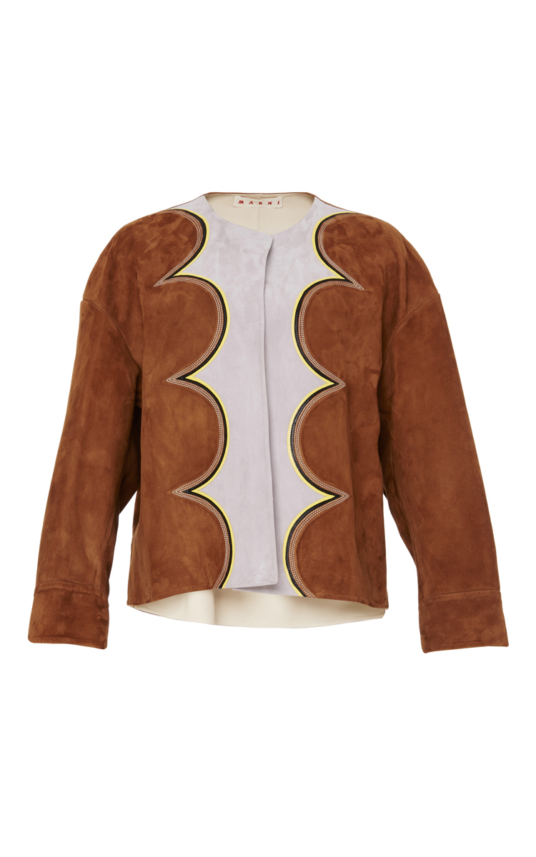 Multicolored Leather Bomber Jacket