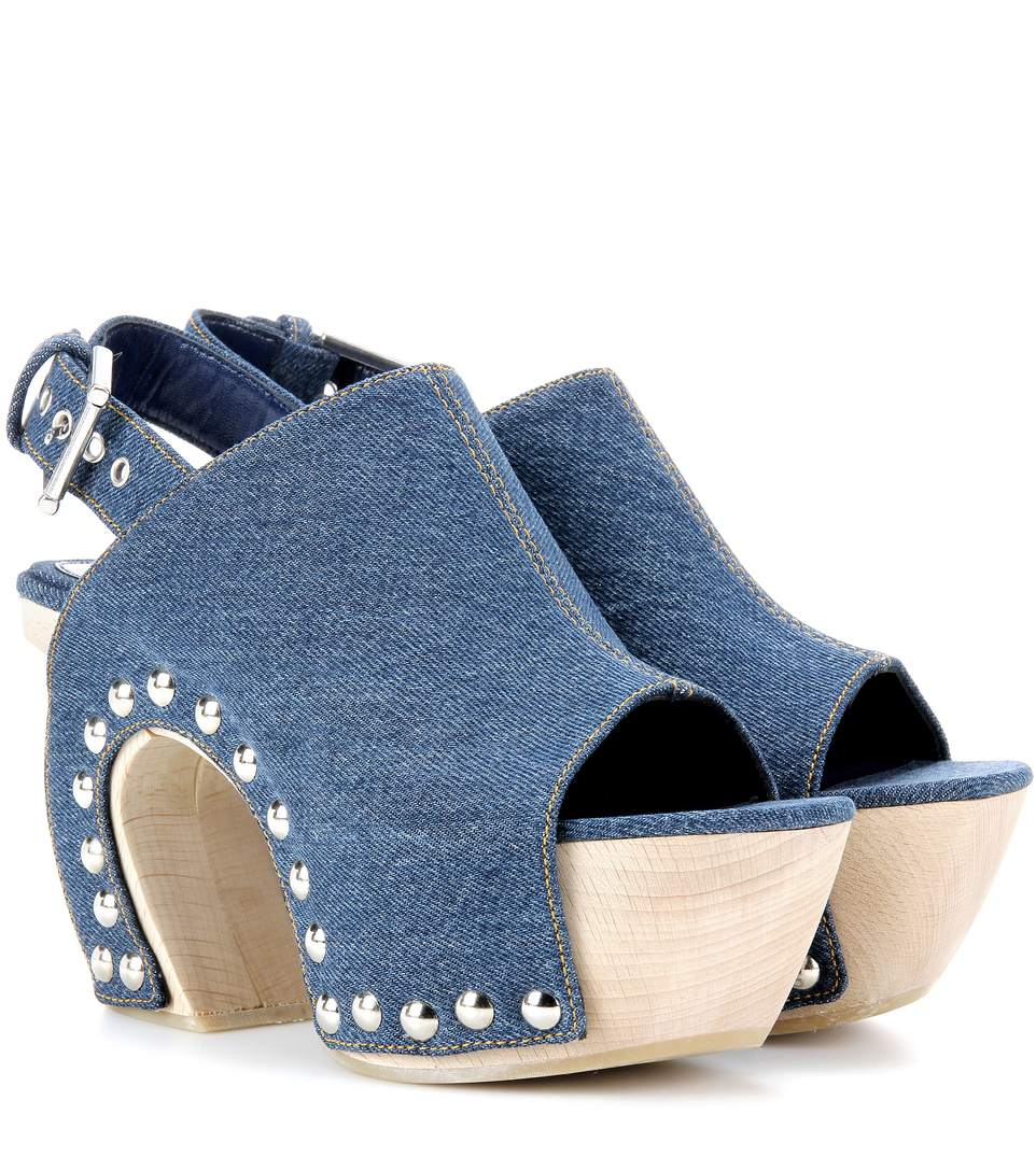 MYTHERESA.COM EXCLUSIVE DENIM PLATFORM CLOGS