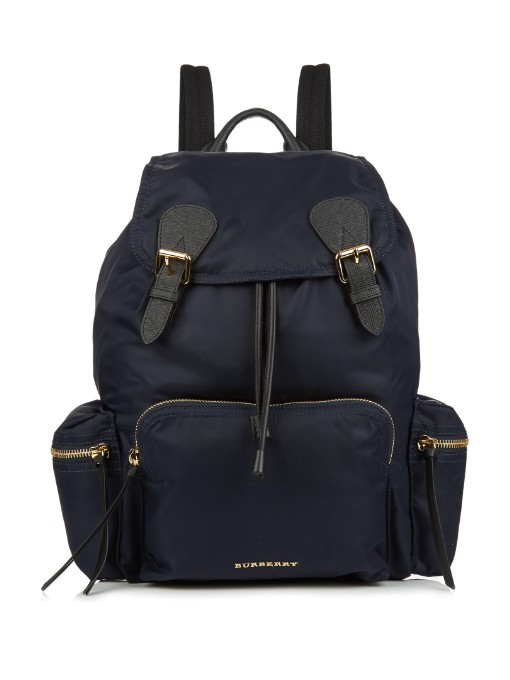 LARGE RUCKSACK IN TECHNICAL NYLON AND LEATHER