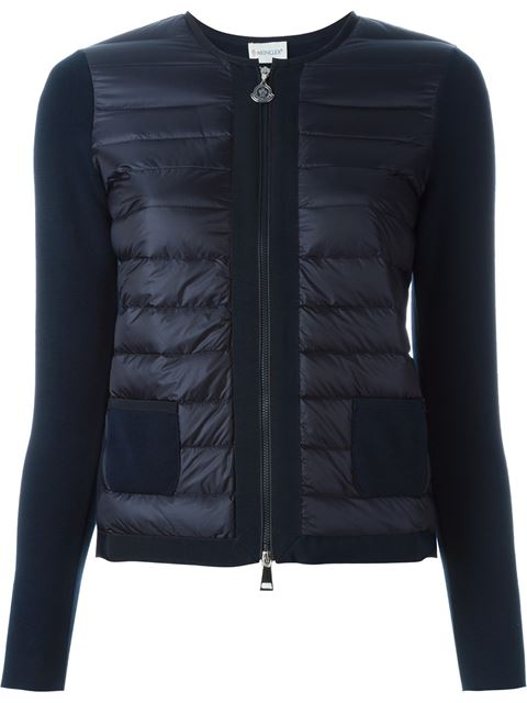 Maglia Two-Pocket Quilted Zip Cardigan