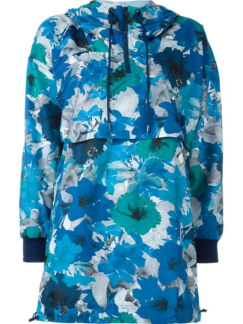 WOMAN RUN BLOSSOM PRINTED SHELL HOODED JACKET MULTICOLOR