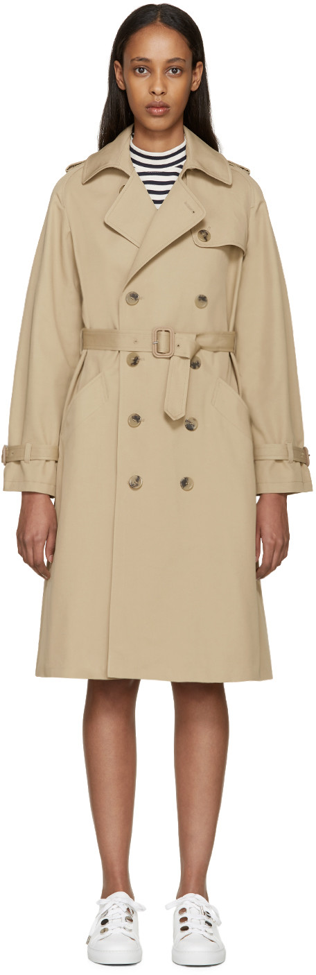 Greta cotton-twill trench coat