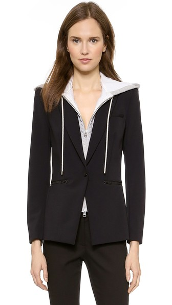 BLAZER WITH HOODED DICKEY