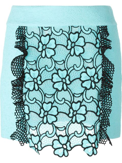 EMANUEL UNGARO flower motif short skirt