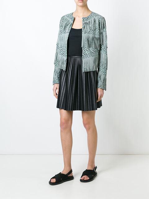 fringed leopard print jacket