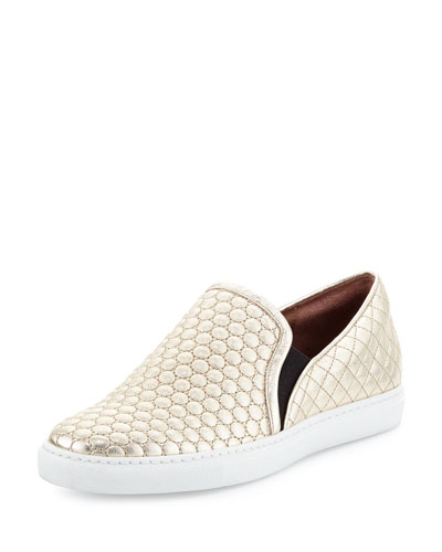 HUNTINGTON QUILTED SLIP-ON SNEAKER, CHAMPAGNE