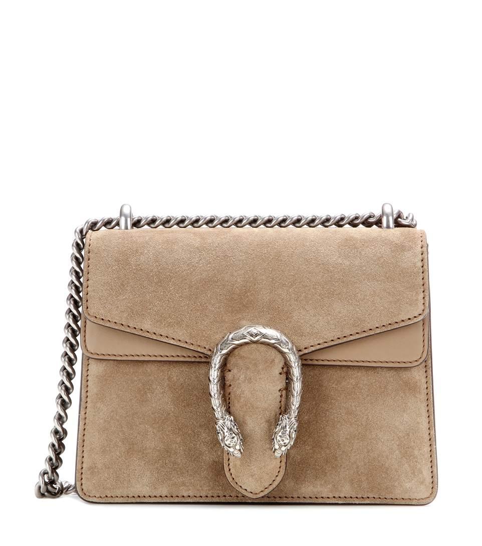 Dionysus Mini suede shoulder bag