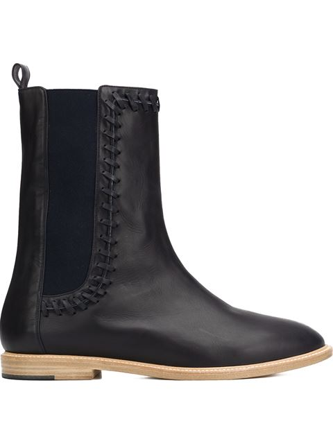 HAZEL WHIPSTITCH FLAT ANKLE BOOT