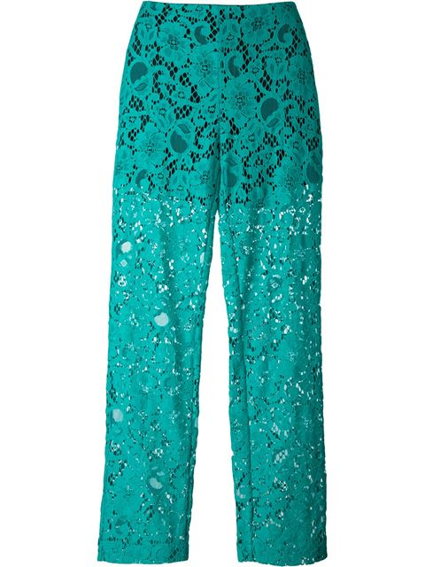 semi-sheer lace trousers