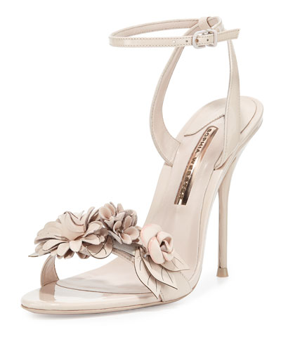Lilico flower-embellished patent-leather sandals