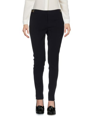 Fold-Over-Waist Jersey Leggings, Black