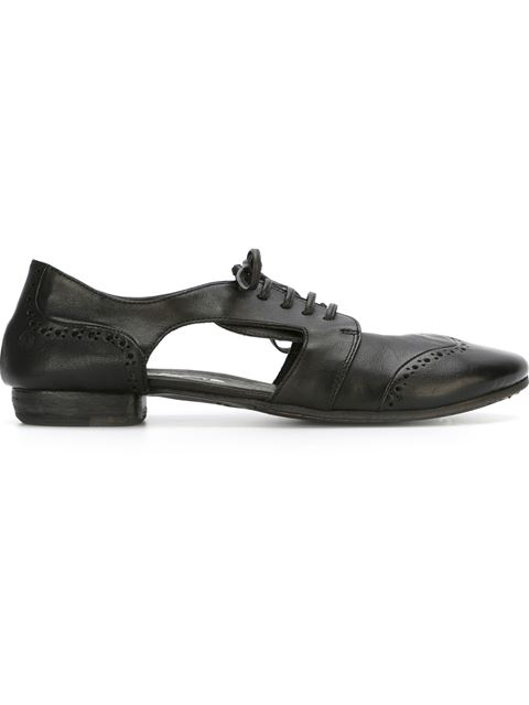 distressed cut-out brogues