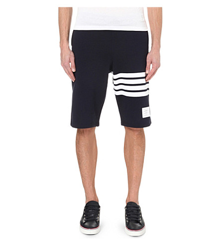 striped cotton jersey shorts Thom Browne yvXB8