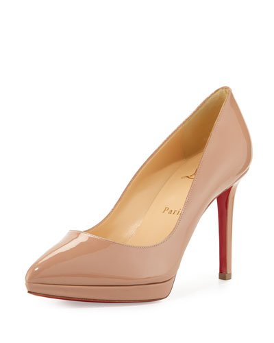 PIGALLE PLATO PATENT RED SOLE PUMP, NEUTRAL PATTERN